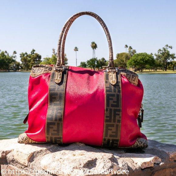 Fendi Handbags - ❌ SOLD! ❌ FENDI Zucca Red Bag
